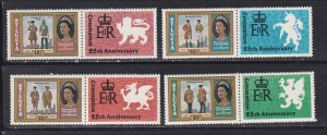 St. Lucia # 438-441, Queen Elizabeth II Coronation 25th Anniversary, NH 1/2 Cat