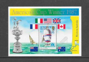 SAIL BOAT - SOLOMON ISLANDS #575 AMERICA'S CUP WINNER  MNH