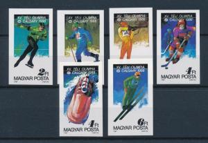 [60937] Hungary 1987 Olympic games Calgary Icehockey Skating Imperforated MNH
