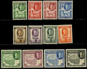SOMALILAND PROT Sc#96-107 1942 KGVI New Portrait Complete Set OG Mint LH