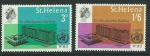 ST.HELENA SG207/8 1966 W.H.O. MNH