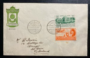 1947 Cairo Egypt First Day Cover To Ireland 36th Inter-parlamentary Conference