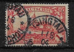 KIAUTSCHOU SG20 1901 GERMAN CURRENCY 1m CARMINE USED