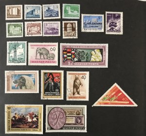 Hungary Lot Used, 19 issues, #110620, CV $4.75+