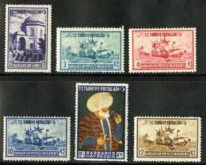 TURKEY 1043-6  MNH SCV $5.75 BIN $3.50