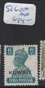 KUWAIT (P0503B) ON INDIA KGVI  6A  SG 60A  MOG