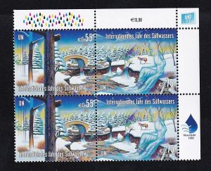 United Nations Vienna  #333-334    MNH  2003   Freshwater  block of 4