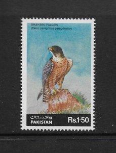 BIRDS - PAKISTAN #663  FALCON  MNH