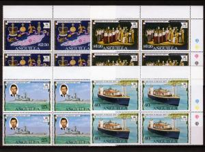 Anguilla 1977 Sc#271/274 Silver Jubilee/Ships Block of 4 MNH VF