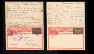 1897 - Guatemala Postcard with reply card - 2x 3 centavos [B08_063]