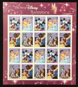 4025-4028   Art of Disney-Romance   MNH 39 c sheet of 20 FV $7.80.  Issued 2006