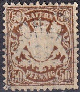 Bavaria #45 F-VF Used CV $27.50 (Z7085)