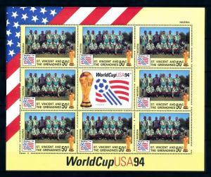[94415] St. Vincent & Gren 1994 World Cup Football Soccer USA Nigeria Sheet MNH