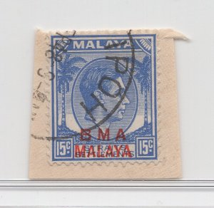 Malaya BMA - 1945 - SG 12 - Fine Used (Ipoh #1 Cancellation)