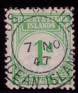 GILBERT & ELLICE IS 1940 Postage Due 1d fine used..........................40784
