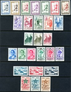 MOROCCO Sc#1-24, C1-3 1956-58 First Issues as Independent Nation OG Mint LH