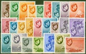 Seychelles 1938 set of 25 SG135-149 Fine Mtd Mint
