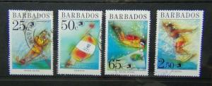 Barbados 1989 World Stamp Expo 89 Exhibition Washington Water sports set Used