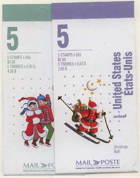 Canada - 1996 Christmas Skiing & Skating Booklets