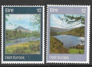 Ireland # 413-14 Europa  Scenic Views  1977  (2)  Mint NH