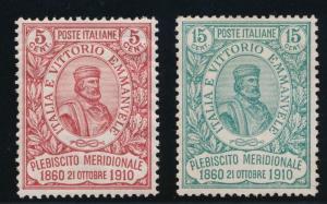 ITALY 117-118 MINT LH