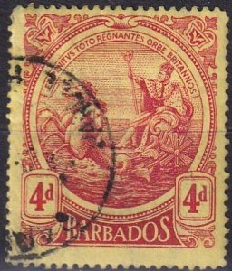Barbados #133  F-VF Used CV $17.50 (Z2458)