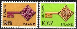 Iceland 395-6 MNH CV $3.00 (X6290)