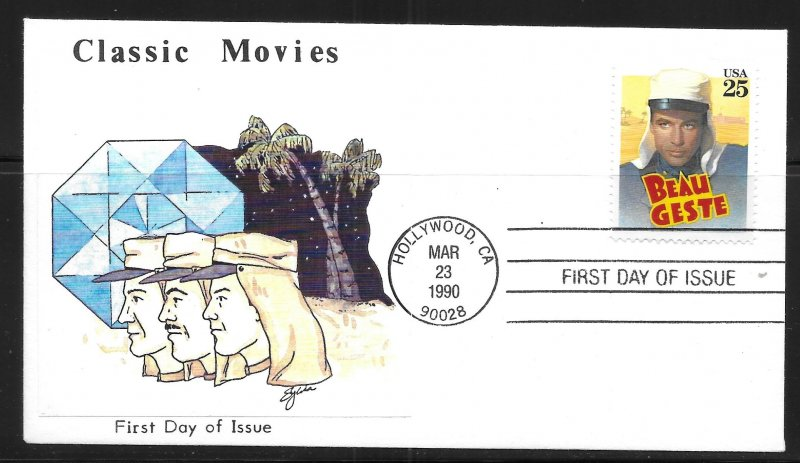 USA 2447 Classic Films Beau Geste First Day Cover FDC (z2)