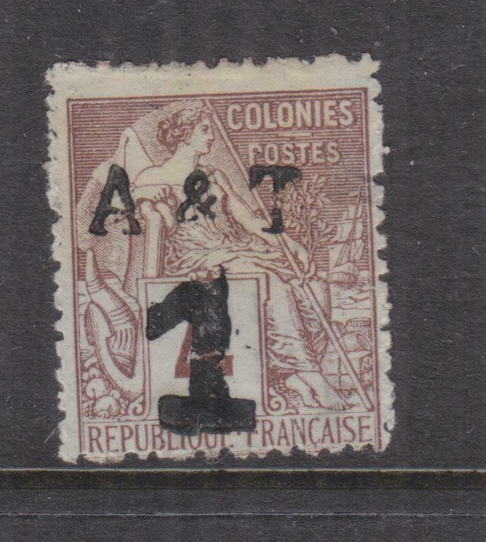 FRENCH INDO CHINA, ANNAM & TONGKING, 1888 A & T 1 on 4c. mint no gum.