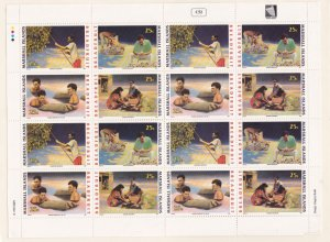 Marshall Islands 387-390, MNH Full Pane of 16 - Breadfruit