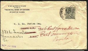 MONTSERRAT 1925 GV 2d on cover to Bahamas redirected to USA................94789
