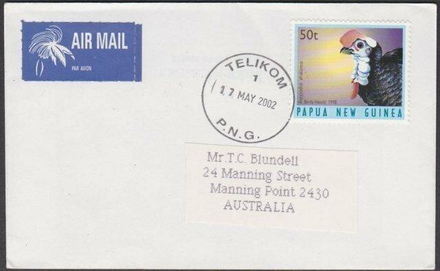 PAPUA NEW GUINEA 2002 cover TELIKOM cds.....................................M381