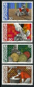 LIECHTENSTEIN 1982 FARMING AND FORESTRY Set Sc 740-743 MNH