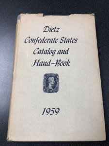 Dietz Confederate States Catalog and Hand-Book - 1959 Edition
