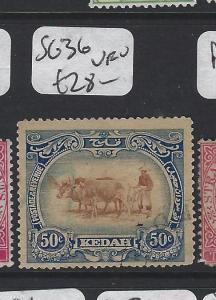 MALAYA KEDAH  (PP1905B)  50C  COW  SG 36   VFU