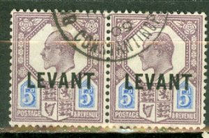 B: Great Britain Turkey 22 used horizontal pair CV $65