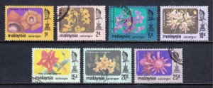 Malaysia (Selangor) - Scott #135-141 - Used - Fault #139, #135 is MH - SCV $2.85