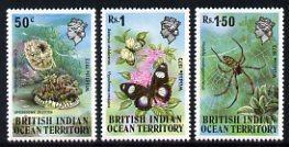 British Indian Ocean Territory 1973 Wildlife 1st Series s...