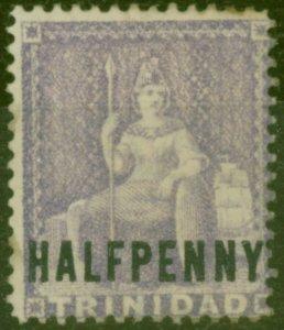 Trinidad 1882 1/2d Lilac SG100 Wmk Reversed Good Mtd Mint