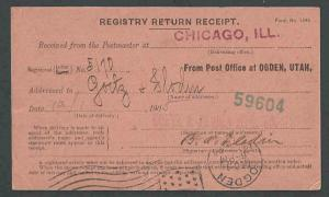 1958 United States Post Office Dept Official Business Card Form #3811 See Info