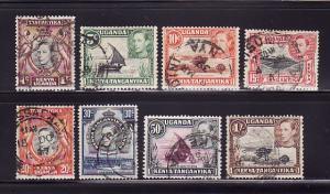 Kenya, Uganda, Tanzania 66a, 67, 69, 72, 74, 76, 79a, 80 (B)