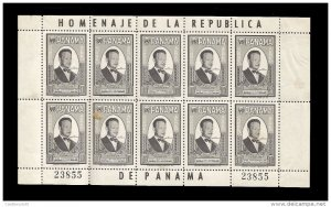 O) 1961 PANAMA, DAG HAMMARSKJOLD UN SECRETARY - SC 252 10c black, MINT, XF