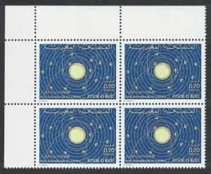 Morocco 500th Birth Anniversary of Nicolas Copernicus Astronomer Corner Block of