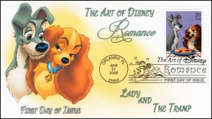 AO-4028-2, 2006, The Art of Disney, Add-on Cover, First Day Cover, Pictorial,