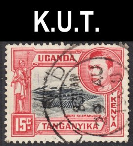 Kenya Uganda Tanzania Scott 72 perf 13 x 13.5 VF used. Beautiful SON cds.