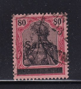 Saar Scott # 16 VF used neat cancel with nice color cv $ 290 ! see pic !