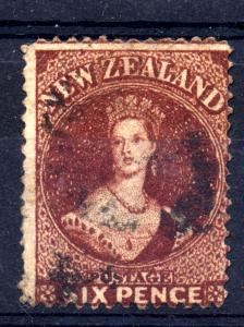 New Zealand 1862 sg 77 6d perf 13, fine used and well centred for a change