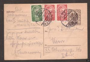 Austria Mi P245a/269x 1919 1kr Uprated Postal Card 4;9