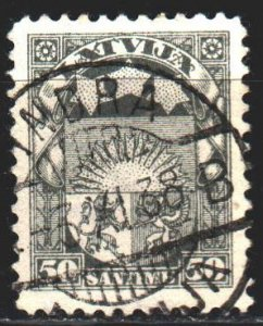 Latvia. 1929. 152. Standard, coat of arms. USED.