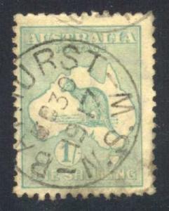 Australia #51 Kangaroo and Map, used (14.00)
